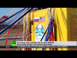 US & Russia pilots beyond politics crossing Pacific on balloon in 6 days