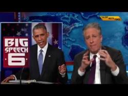Barack Obama Vs Jon Stewart 2015