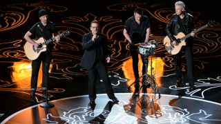 U2  performing at the Academy Awards in Hollywood