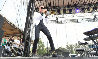 Artist Capital Cities performs during the 2014 Bonnaroo Music & Arts Festival