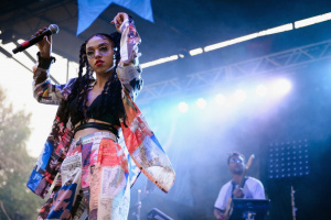 FKA Twigs performs during Pitchfork Music Festival at Union Park.