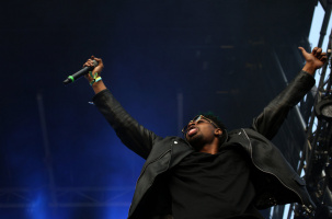Danny Brown performs during Pitchfork Music Festival in Union Park.