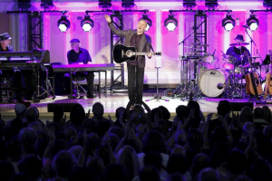 Neil Diamond performs a special concert at Erasmus Hall High School in Brooklyn