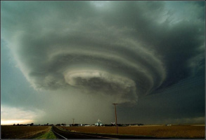 Tornadic supercell thunderstorm, USA