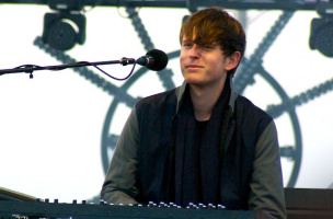 James Blake performs at Treasure Island Music Festival