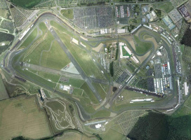 Silverstone race track, aerial image