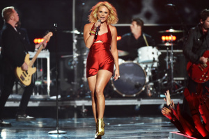 "Miranda Lambert performs at the ""Fashion Rocks"" event in New York."