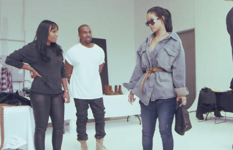 Rihanna talks about the music video's all-denim look