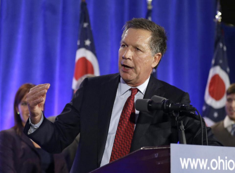 Ohio Gov. John Kasich steals the show at Republican governors' meeting
