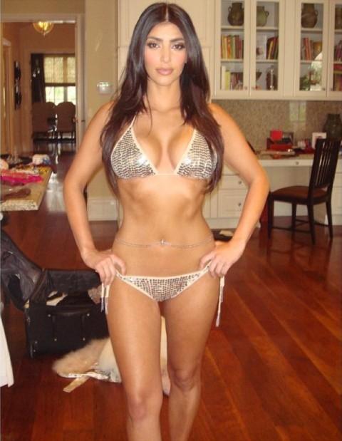 Kim Kardashian Shares Super-Skinny Bikini Pic