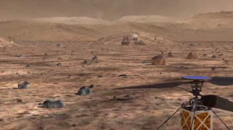 NASA is testing a Martian helicopter