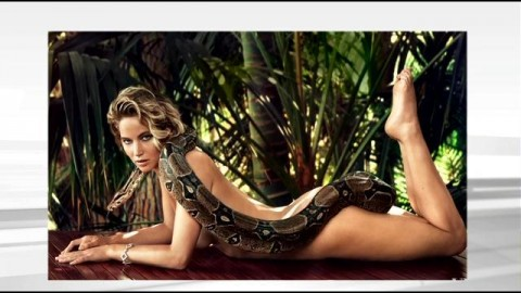 So, This Photo Of Jennifer Lawrence Lying Naked With A Snake Exists