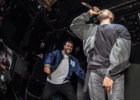 DRAKE BRINGS OUT KANYE WEST, COVERS 'FOURFIVESECONDS'