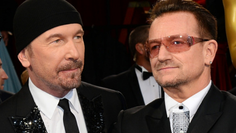 The Edge Offers Bono Progress Report: 'He Basically Can't Move'