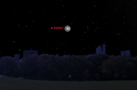 Jupiter and the Moon Shine Together Tonight