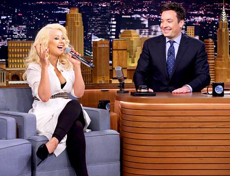 Christina Aguilera Imitate Britney Spears, Shakira on 'Jimmy Fallon'
