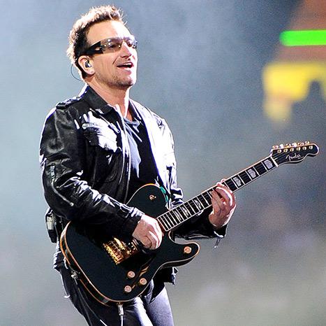 U2 frontman Bono said that he could never play the guitar again